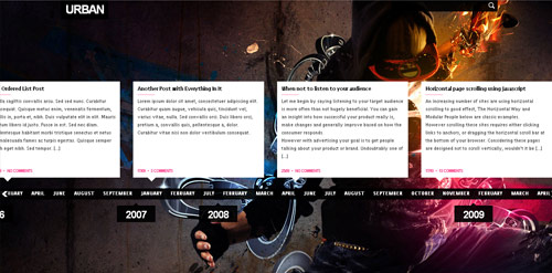 urban blog template